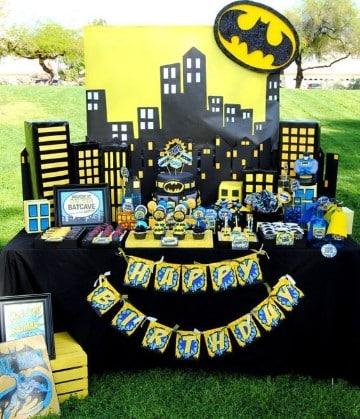 decoraciones de batman para fiestas infantiles creativas