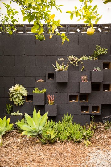 paredes de jardin decoradas minimalistamente