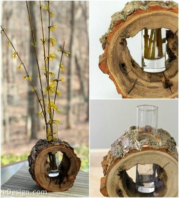 adornos de madera rusticos faciles de hacer