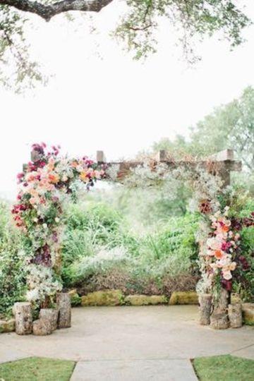 adornos para boda civil en casa al aire libre
