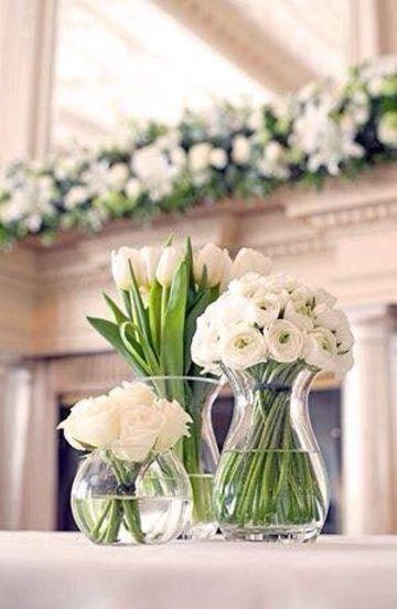 adornos para boda civil en casa sencillo