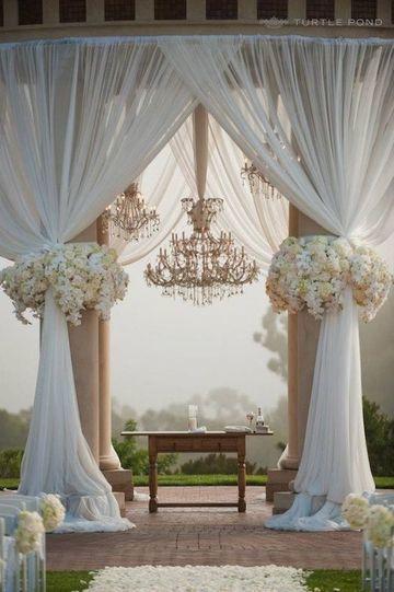 adornos para boda civil en casa