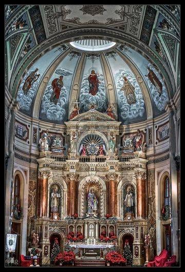 altares de iglesias catolicas antiguo