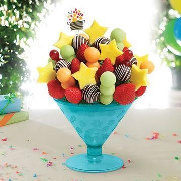 arreglos de frutas naturales de cumpleaños