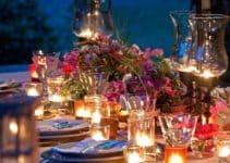 Ideas para crear originales arreglos de mesa con velas
