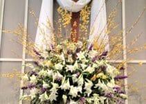 Diversos  y originales arreglos para altares de santos