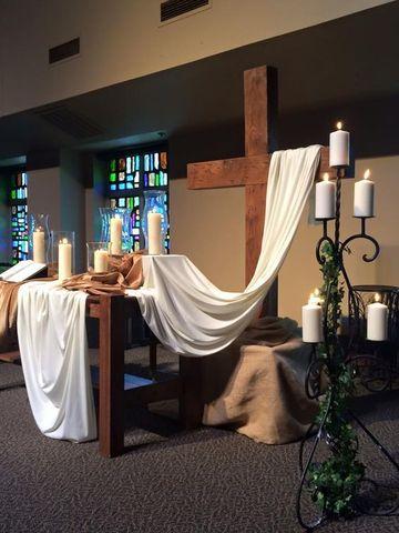 arreglos para altares de santos con telas