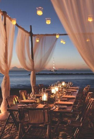 bodas en la playa de noche sencilla