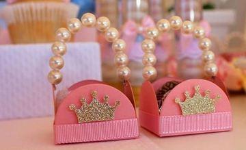 cajitas para mesa de dulces de princesa