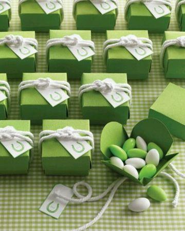 cajitas para mesa de dulces verdes