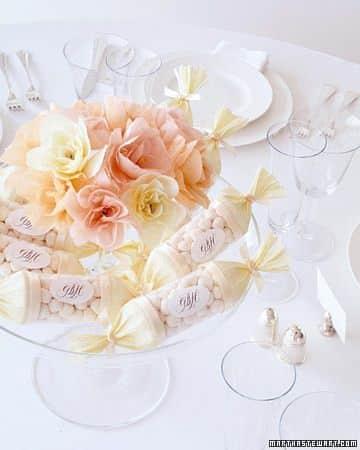 centros de mesa con dulces para 15 años elegantes