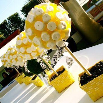 centros de mesa con dulces para 15 años sencillos