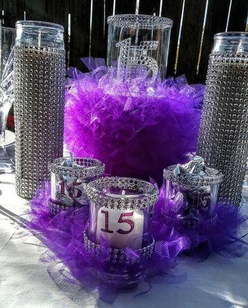 centros de mesa con dulces para 15 años