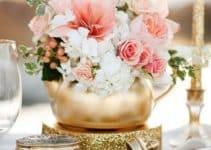 Hermosos y originales centros de mesa dorados