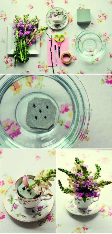 como hacer arreglos florales para bodas sencillo