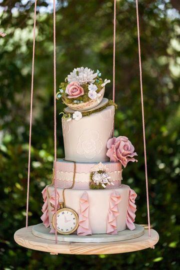 diseños de pasteles para boda vintage