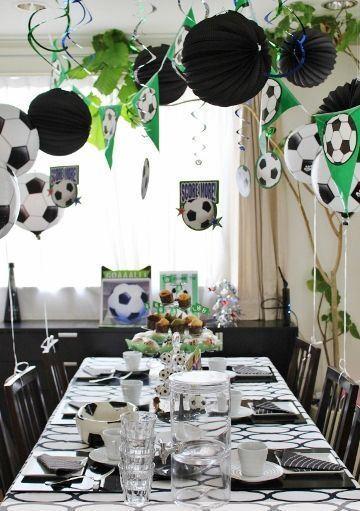 fiesta tematica de futbol infantil en casa