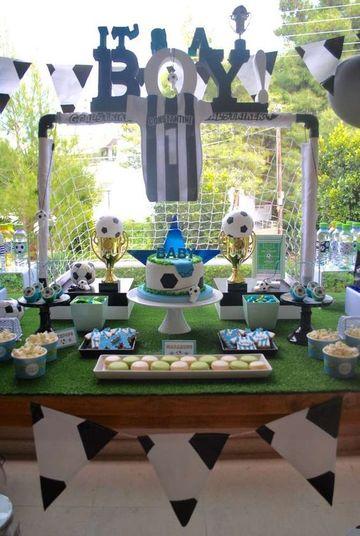 fiesta tematica de futbol infantil