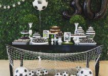Diferentes decorados e imagenes de cumpleaños de futbol
