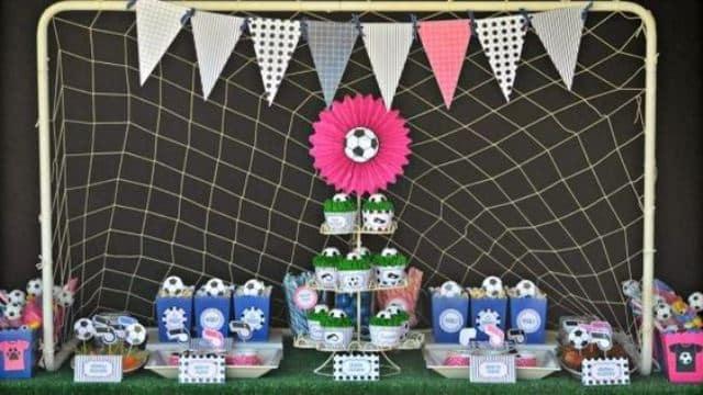imagenes de cumpleaños de futbol para niña
