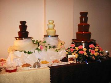 imagenes de fuentes de chocolate para boda