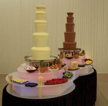 imagenes de fuentes de chocolate para decoracion