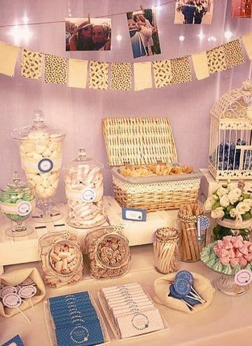 mesas de dulces para eventos vintage