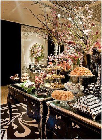 mesas de golosinas para bodas elegantes