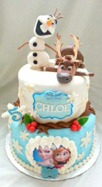 modelos de tortas de frozen para cumpleaños