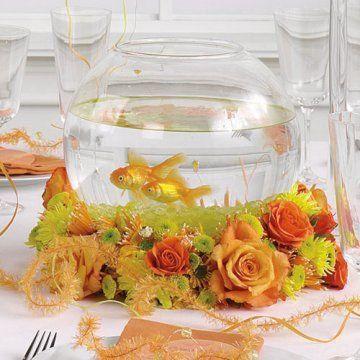 peceras decoradas para centros de mesa con rosas