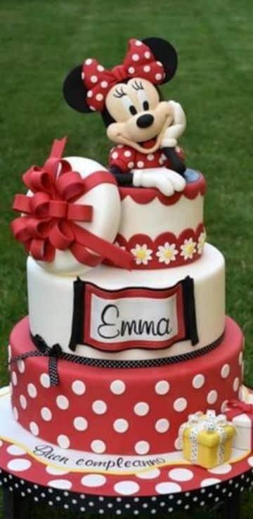 tortas de minnie coqueta roja