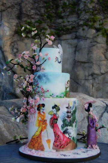 tortas tematicas para mujeres oriental