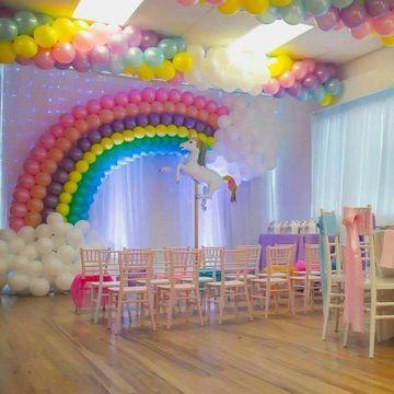 adornos de globos para cumpleaños niñas