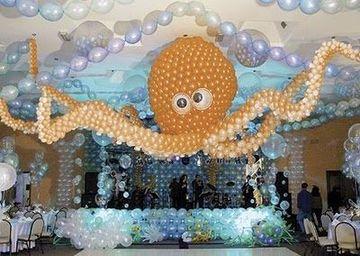 adornos de globos para cumpleaños niños