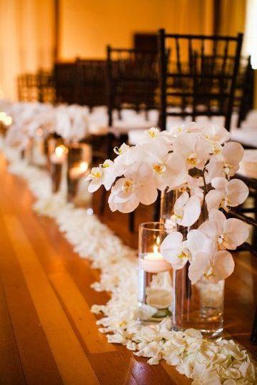 adornos florales para bodas para salon