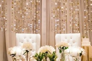 Elementales y hermosos arreglos de mesa para novios