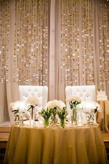 arreglos de mesa para novios elegante