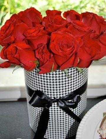 arreglos florales con rosas rojas sencillo