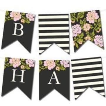 banderines de papel para imprimir para mujer