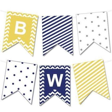 banderines de papel para imprimir para niño