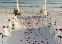 Decoracion minimalista para bodas sencillas en la playa
