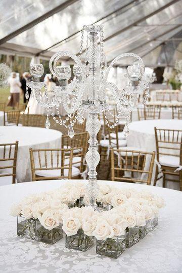 candelabros para centros de mesa de cristal