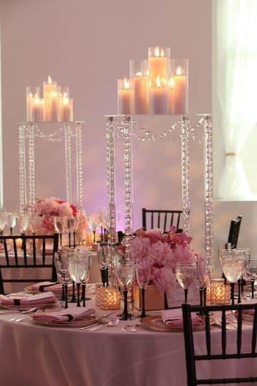 candelabros para centros de mesa para bodas