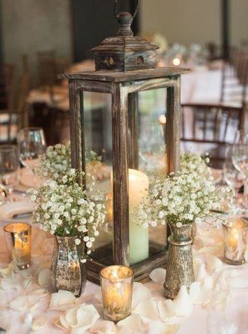 candelabros para centros de mesa rusticos