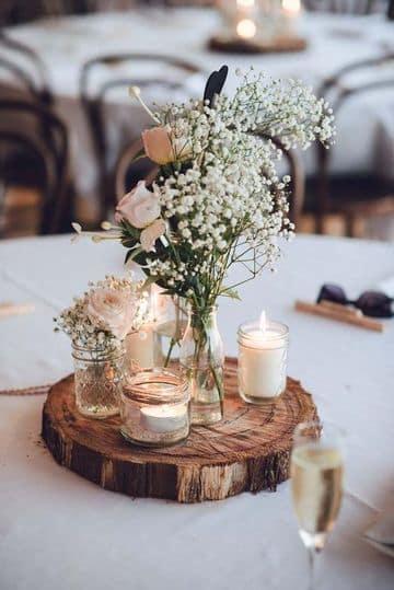 candelabros para centros de mesa vintage