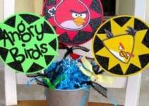 Originales y sencillos centro de mesa angry birds