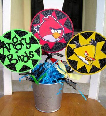centro de mesa angry birds facil