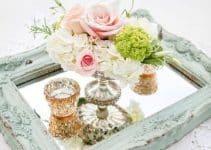 Elegancia en hermosos centros de mesa con espejo