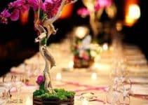 Hermosos centros de mesa con plantas naturales