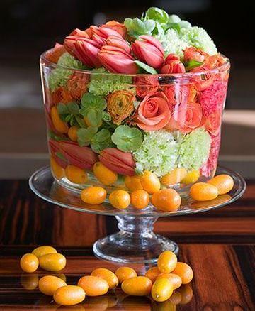 centros de mesa florales modernos comedor
